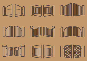 Free Open Gate Icons Vector - Free vector #413881