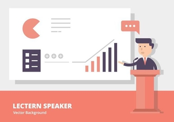 Lectern Speech Background - vector gratuit #413901