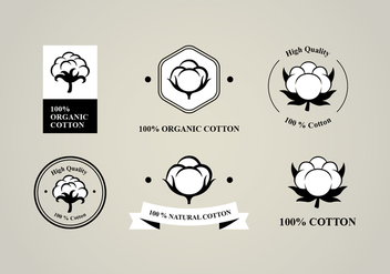 Six Flat Cotton Flower Logo - Free vector #414061