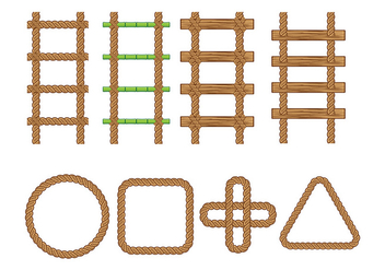 Rope Ladder Vector - Free vector #414251