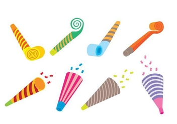 Party Blower Icons - бесплатный vector #414271