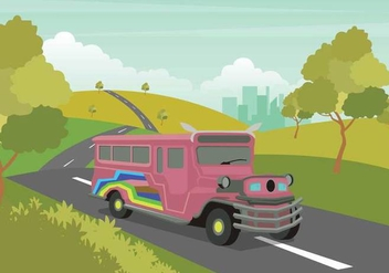 Free Jeepney Illustration - бесплатный vector #414281