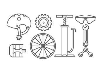 Bicycle gear icons - vector #414341 gratis