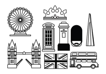 London Landmark Vectors - vector #414351 gratis