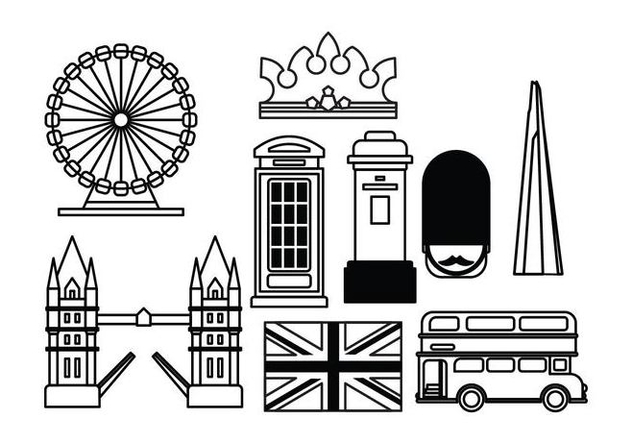 London Landmark Vectors - vector gratuit #414351