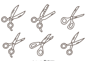 Hand Drawn Scissors Vector Set - Free vector #414381