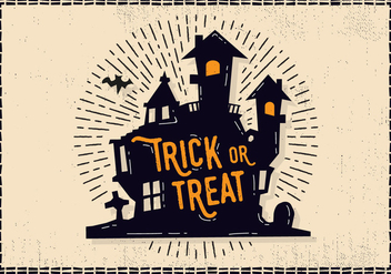 Free Halloween Castle Illustration - vector gratuit #414461