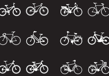 Silhouette Of Various Kinds Of Bicycle - vector gratuit #414541