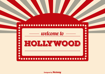 Welcome to Hollywood Illustration - бесплатный vector #414751