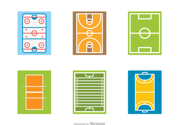 Free Sport Field Vector Icons - Kostenloses vector #414801
