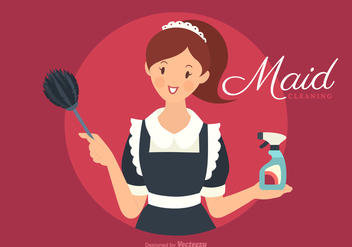 Free Vector Retro French Maid - vector gratuit #414821