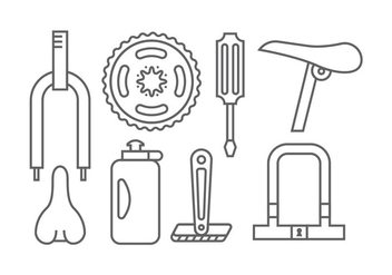 Bicycle element icons - vector gratuit #414851