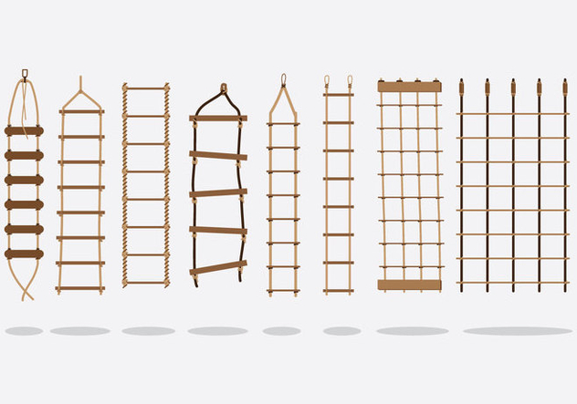Free Rope Ladder Vector - vector gratuit #414871