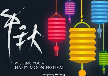 Moon Festival Vector Background - Kostenloses vector #414921