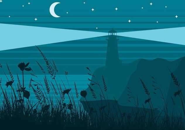 Sea Oats Night Free Vector - vector gratuit #414931
