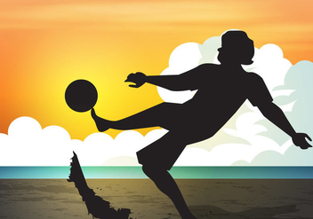 Beach Soccer Sport Sunset - Free vector #414941
