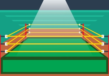 Illustration Of Wrestling Ring - Free vector #414991