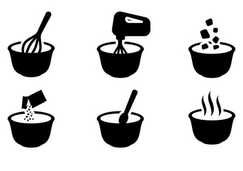 Free Mixing Bowl Icons Vector - Free vector #415011