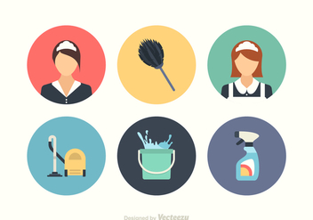 Free Cleaning Vector Icon Set - vector gratuit #415111