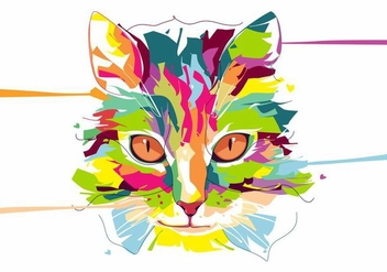 Cat - Animal Life - Pop Art Portrait - Free vector #415131
