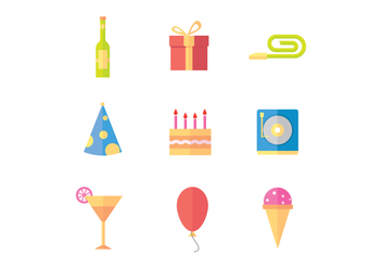 Free Party Icons - vector #415161 gratis