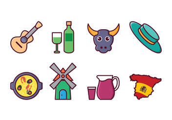 Free Spain Icon Set - vector #415171 gratis