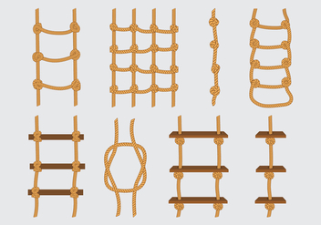 Rope Ladder Icons - vector gratuit #415181