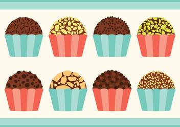 Brigadier Candy Collection - vector gratuit #415341
