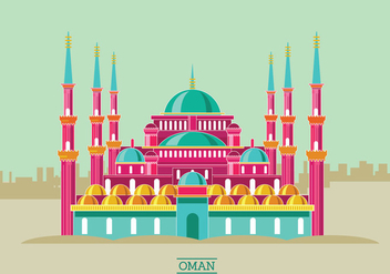 Historic Sultan Ahmet Mosque Vector Illustration - Kostenloses vector #415351