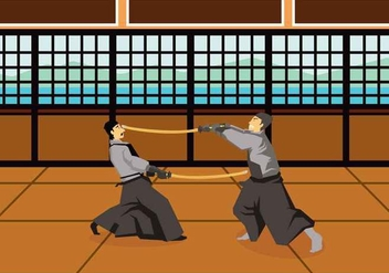Free Kendo Illustration - Kostenloses vector #415431