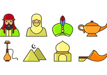 Set Of Sultan Icons - Free vector #415441