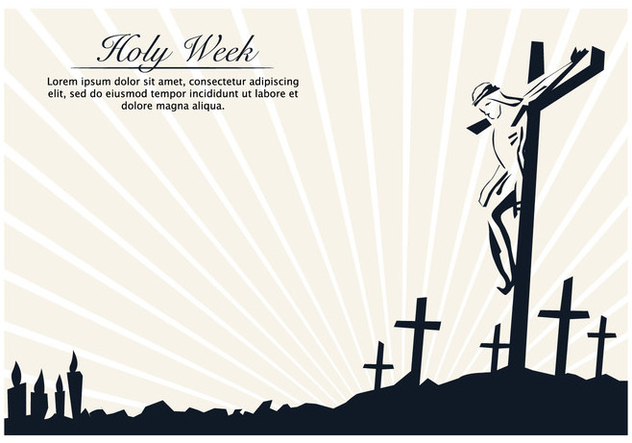 Day Of Holy Week - vector gratuit #415471
