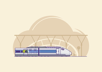 Free TGV Train Illustration - vector gratuit #415531