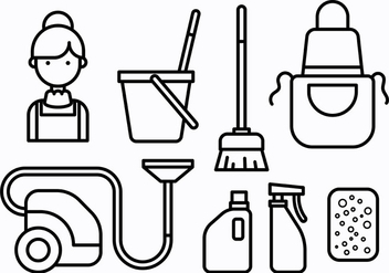 Free French Maid Icons Vector - vector gratuit #415541