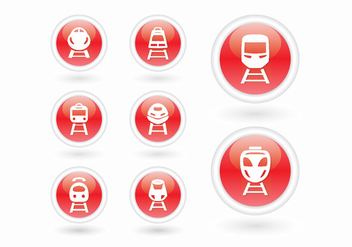 High speed rail TGV city train 3d icon - Free vector #415581