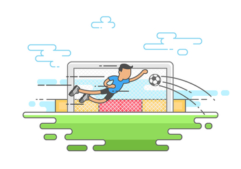Goalkeeper Saving the Ball - Free vector #415681