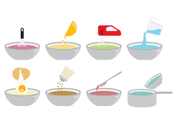 Cooking Icons Vector - vector #415741 gratis