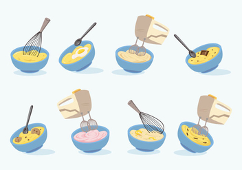 Free Mixing Bowl Vector - бесплатный vector #415771