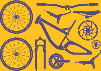 Bike Accessories Set - бесплатный vector #415811