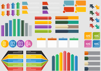 Infographics flat element - vector gratuit #415821
