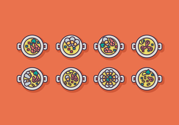 Paella Icon Vector Sets - Kostenloses vector #415841