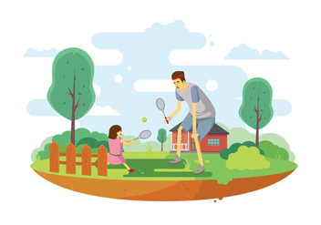 Free Tennis Illustration - vector gratuit #415871