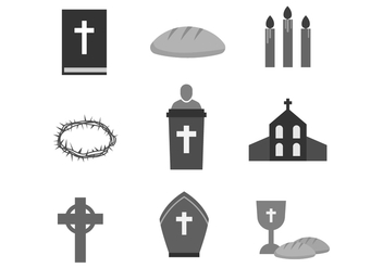 Free Holy Week Icons - бесплатный vector #415921
