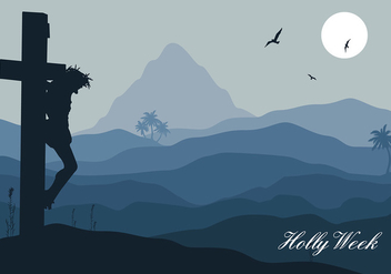 Holy Week Night Free Vector - Kostenloses vector #415931