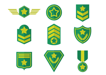 Free Army Badges Vector - vector gratuit #416011