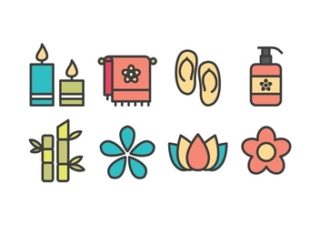 Free Spa and Beauty Icons - vector #416111 gratis