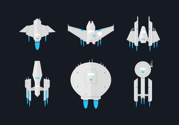 Starship Flat Vector Sets - Free vector #416121