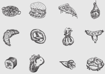 Vector Handdrawn of Food - бесплатный vector #416131
