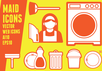 Maid Icons - Free vector #416191