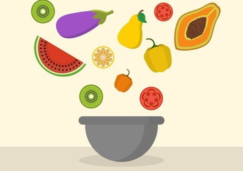 Free Fruit Mixing Bowl Vector - vector #416201 gratis